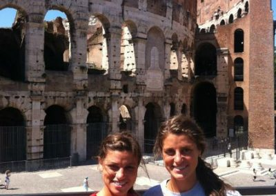 Alyssa and Nikki Keeping the Phaith in Rome