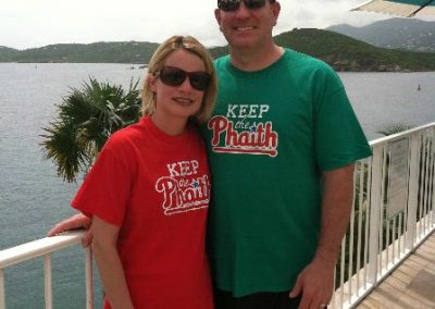 Aunt Eileen and Uncle Andy in St Thomas