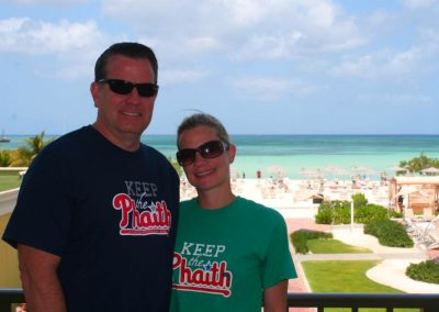 Auth Eileen and Uncle Andy Keeping the Phaith in Aruba