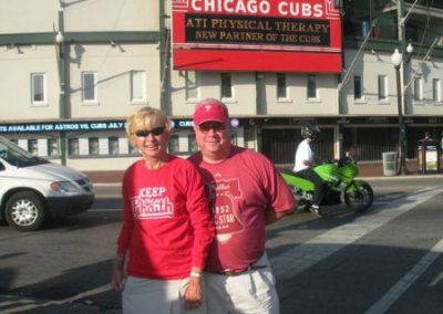 Denise and Frank McNamara Keeping The Phaith at Wrigley Field