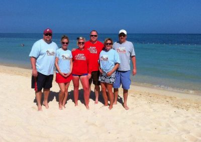 Dennis, Megan, Dette, RJ, Kristen, and Jamie Keeping the Phaith in Jamaica