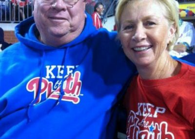 Frank and Denise McNamara Keeping the Phaith at Citizen Bank Park