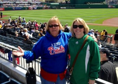 Gloria Markward Keeping the Phaith in Pittsburgh on opening day
