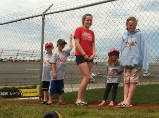 Huebers and McDonald Children Keeping the Phaith at Talladega Speedway in Alabama