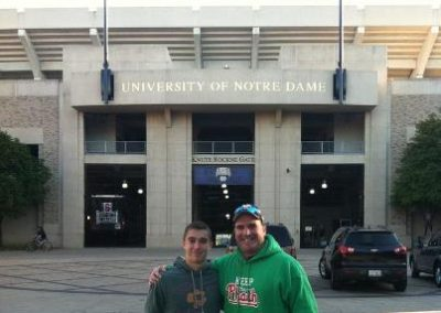 Jake and Mark Dianno Keeping the Phaith in South Bend, Indiana for Notre Dame vs Stanford
