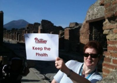 Keeping the Phaith in Pompeii at Mt. Vesuvius