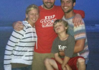 Kevin's cousins Tommy, Marybeth, and Andrew Keeping the Phaith in OCNJ with Kevin's brother Joe