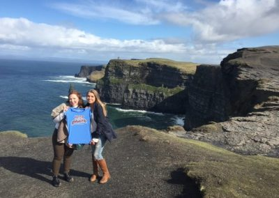 Mary Joyce and Virginia Poliwoda Keeping the Phaith at the Cliffs of Mohr Ireland