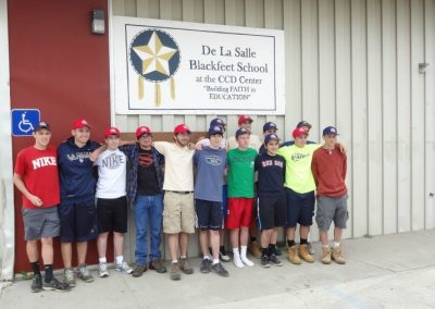 Pat Ryan and LaSalle College High School Service Keeping the Phaith at Blackfeet Immersion in Browning, Montana