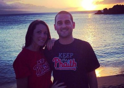 Peyton and Emily Bowman Keeping the Phaith on their honeymoon in Hawaii