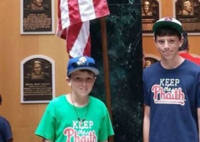 Pittman Brothers at the baseball Hall of Game in Cooperstown, NY