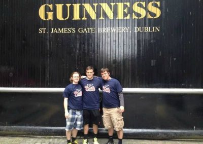 The Davis brothers Keeping the Phaith at the Guiness Brewery in Dublin, Ireland