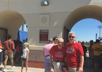 Kevin's Poppy and Uncle Paul keeping the Phaith at spring training in Clearwater