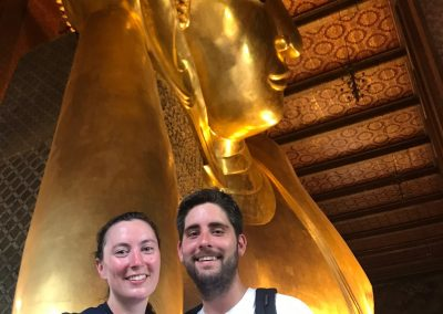 Katie Flach, Kevin's cousin and friend Will in Bangkok, Thailand.