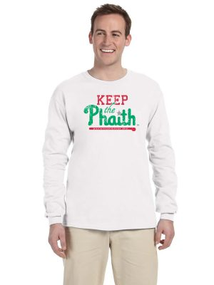 Adult Long Sleeve T-Shirt - White - Front