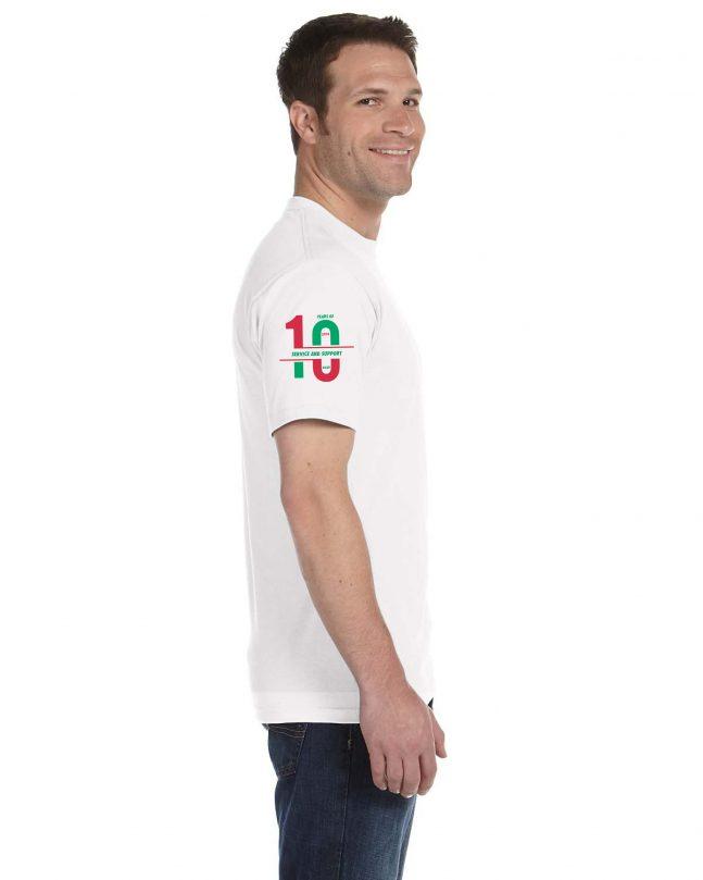 Adult Short Sleeve T-Shirt - White - Side
