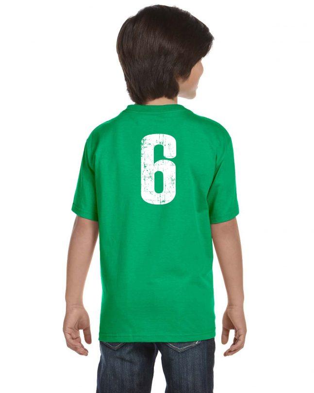 Youth Short Sleeve T-Shirt - Green - Back