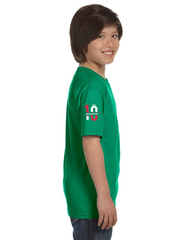 Youth Short Sleeve T-Shirt - Green - Side