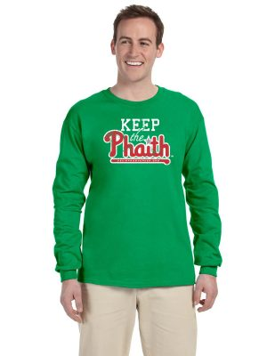 Adult Long Sleeve T-Shirt - Green - Front
